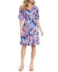 Lilly Pulitzer - Lilly Pulitzer Parigi Floral Kimono Sleeve Dress - Lyst