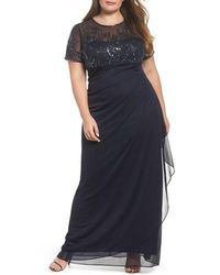 Xscape - Ruched Beaded Gown - Lyst