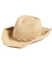 Caslon | Caslon Packable Raffia Panama Hat | Lyst