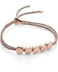 Monica Vinader - Engravable Linear Bead Friendship Bracelet - Lyst