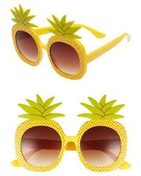 Circus by Sam Edelman - 51mm Pineapple Glam Sunglasses - Lyst
