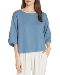 Eileen Fisher - Boxy Organic Cotton Blend Top - Lyst