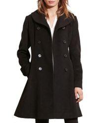 Lauren by Ralph Lauren | Fit & Flare Military Coat | Lyst