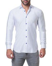 Maceoo - Fibonacci Math Trim Fit Print Sport Shirt - Lyst