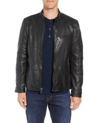 Andrew Marc - Quilted Leather Moto Jacket - Lyst