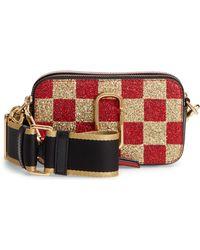 Marc Jacobs - Snapshot Glittered Leather Shoulder Bag - Lyst