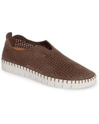 Jeffrey Campbell - Tiles Perforated Slip-on Sneaker - Lyst