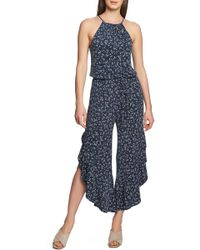 1.STATE - Ruffle-hem Afternoon Bouquet Jumpsuit - Lyst