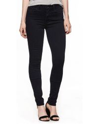 PAIGE - Transcend - Leggy High Waist Ultra Skinny Jeans - Lyst