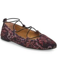 Lucky Brand - 'aviee' Lace-up Flat - Lyst