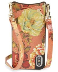 Bandolier - Emma Iphone X & Xs Leather Crossbody Case - - Lyst