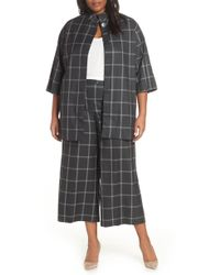Sejour - Windowpane Topper Jacket - Lyst