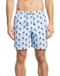 f64176738a Reiss Jelly - Jellyfish Printed Swim Shorts in White for Men - Lyst
