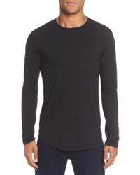 Goodlife - Triblend Scallop Long Sleeve Crewneck T-shirt - Lyst