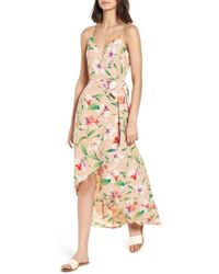 Nordstrom - Floral Wrap Maxi Dress - Lyst