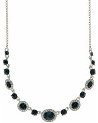 Givenchy - Crsytal Frontal Necklace - Lyst