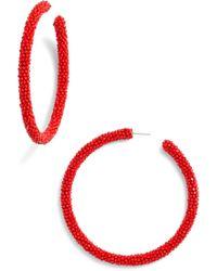 Sachin & Babi - Noir Large Beaded Hoop Earrings - Lyst