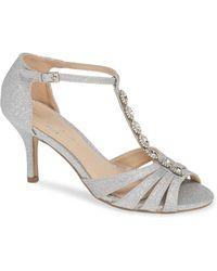 Paradox London Pink - Sibel Crystal Embellished T-strap Sandal - Lyst