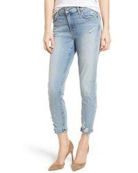 Agolde - Sophie Distressed High Waist Crop Skinny Jeans - Lyst