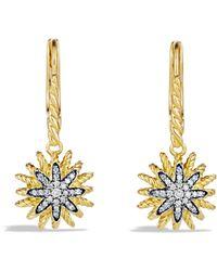 David Yurman - 'starburst' Drop Earrings With Diamonds In Gold - Lyst