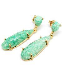Nakamol - Long Facet Stone Drop Earrings - Lyst