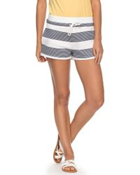 Roxy - Away From Today Stripe Shorts - Lyst