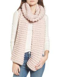 Sole Society - Chunky Knit Oversize Scarf - Lyst