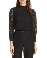 Ted Baker - Dilly Lace High Neck Blouse - Lyst