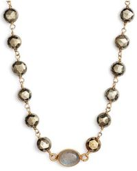 Ela Rae - Beaded Collar Necklace - Lyst