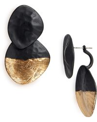 Natasha Couture - Matte Front/back Earrings - Lyst