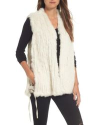 Love Token - Genuine Rabbit Fur Vest - Lyst