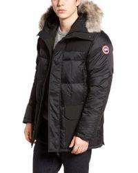 Canada Goose - Callaghan Genuine Coyote Fur Trim Slim Fit Down Parka - Lyst