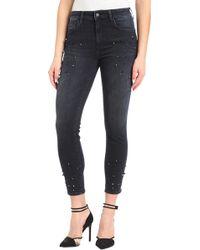 Mavi Jeans - Tess Beaded Super Skinny Ankle Jeans - Lyst