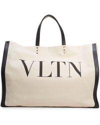 Valentino - Grande Plage Vltn Logo Tote - Lyst