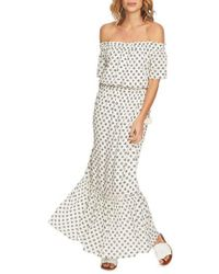 1.STATE - Off The Shoulder Cinched Waist Maxi Dress - Lyst