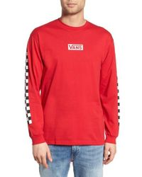 b11ee89ffbf Vans Checkmate Long Sleeve Graphic T-shirt in Pink for Men - Lyst
