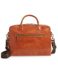 Shinola - Harness Bedrock Leather Briefcase - - Lyst
