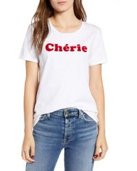 French Connection - Cherie Graphic Tee - Lyst
