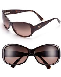 Maui Jim - Nalani 61mm Polarizedplus2 Sunglasses - Dark Tortoise - Lyst