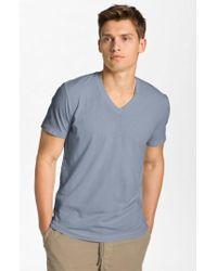 James Perse - Short Sleeve V-neck T-shirt - Lyst