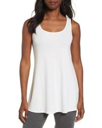 Eileen Fisher - Scoop Neck Silk Tunic - Lyst