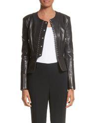 Alexander Wang - Hook Detail Lambskin Leather Jacket - Lyst