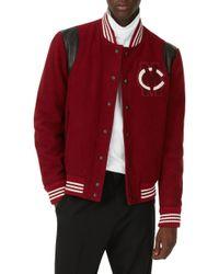 Club Monaco - Varsity Patch Jacket - Lyst