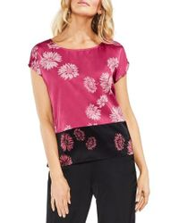 Vince Camuto - Chateau Floral Print Top - Lyst