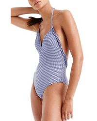J.Crew | J.crew Ruffle One-piece Swimsuit | Lyst