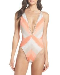 Luli Fama - Deep-v Reversible One-piece Swimsuit - Lyst