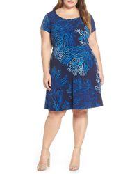 80176c5a858b3 MICHAEL Michael Kors - Plus Size Tahitian Reef Print A-line Dress - Lyst