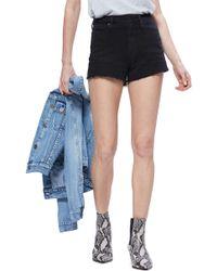 PAIGE - 'margot' High Rise Cutoff Denim Shorts - Lyst