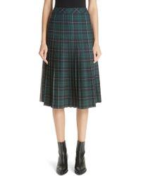 Sandy Liang - Tartan Panel Pleated Skirt - Lyst