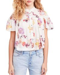 Free People - Free People Sweet Escape Blouse - Lyst